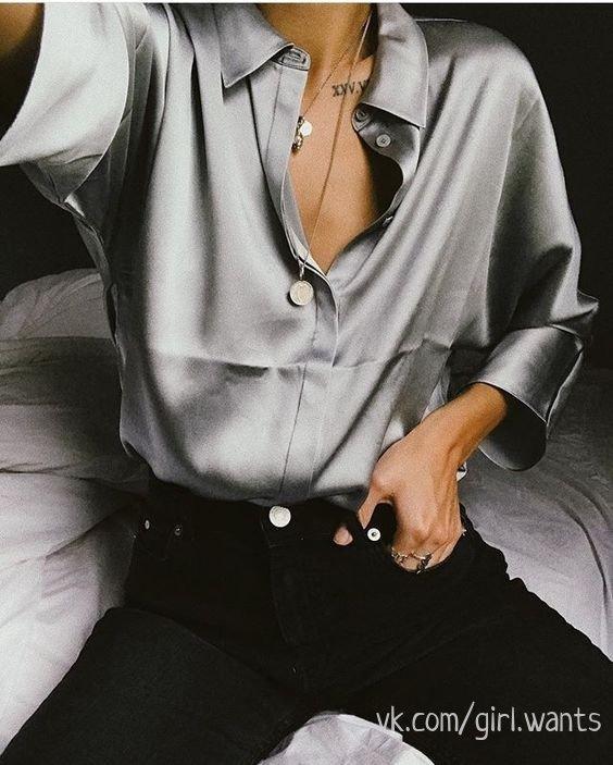 Навечно в тренде -- шелковая рубашка как символ роскоши и вкуса