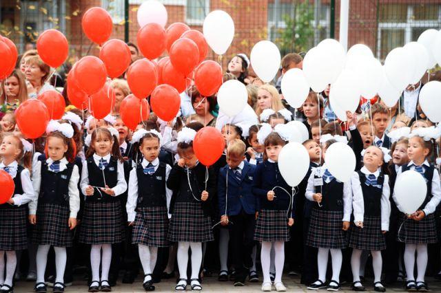 Начало учебного года в российских школах
