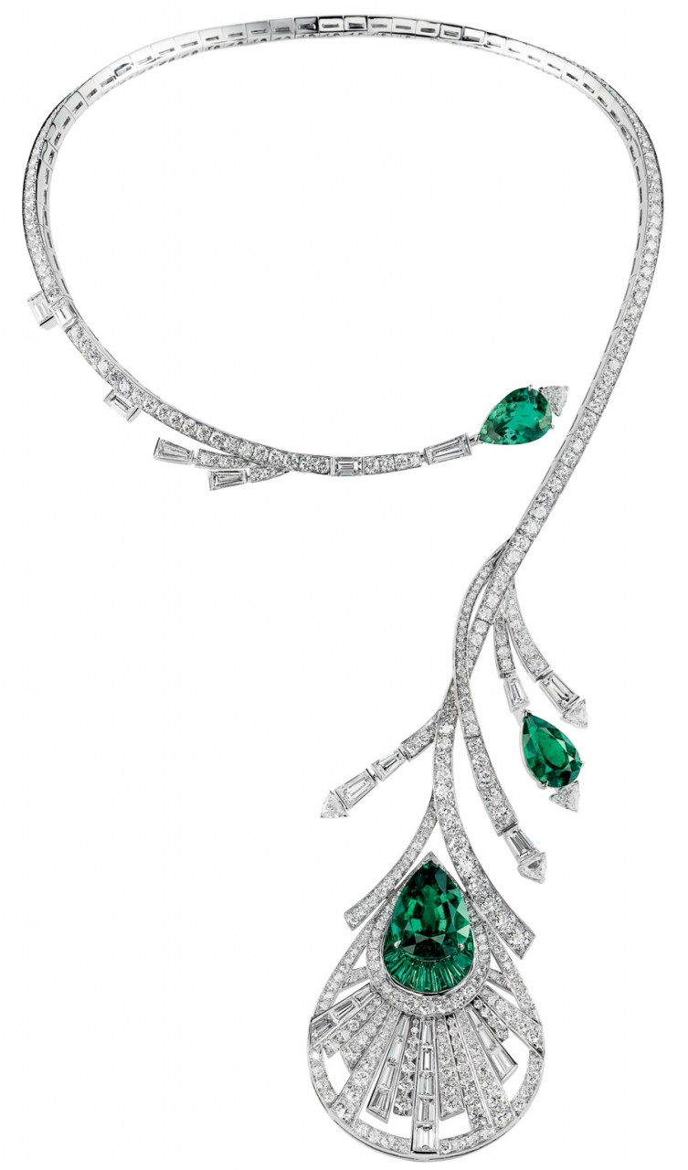 Boucheron plume de paon necklace