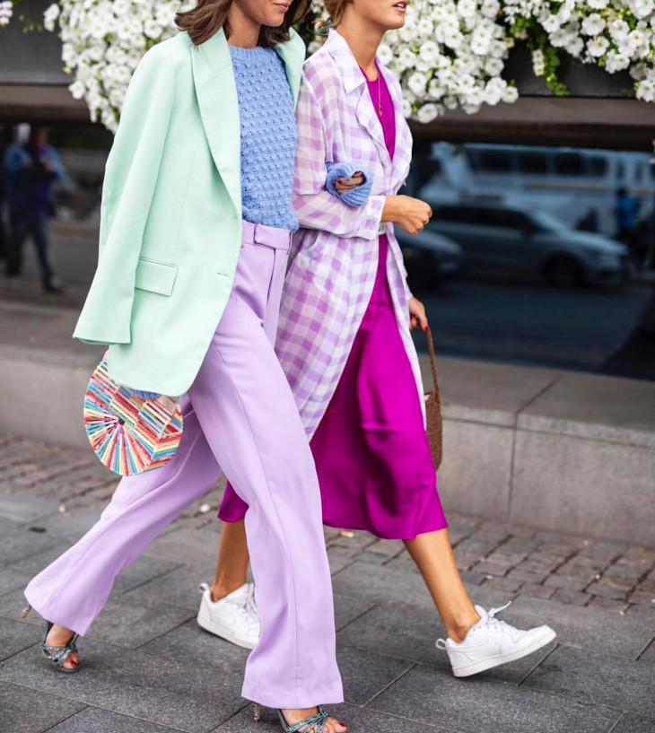 модные брюки 2018 - ультрафиолет