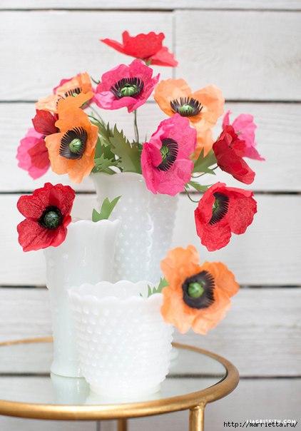 Бумажные цветы. Мастер-класс