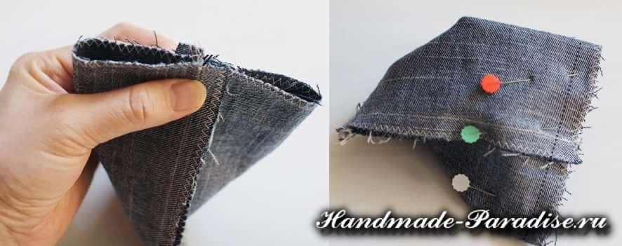 Портмоне из джинсов своими руками
