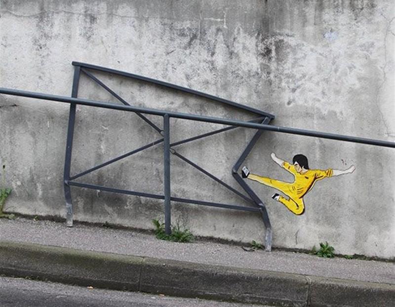 Кунг-фу вандализм, граффити, инсталляция, искусство, мир, творчество, улица, художник