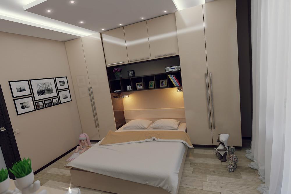 Современный дизайн спальни 9 кв.м