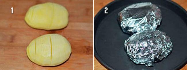 Лёгкий рецепт румяной картошки-гармошки