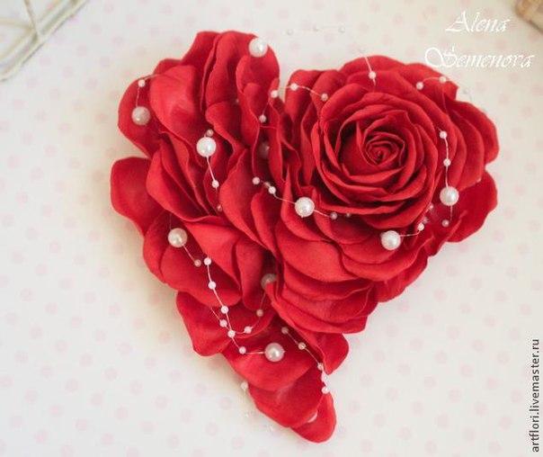 Мастер-класс 2 в 1. Роза и валентинка из фоамирана