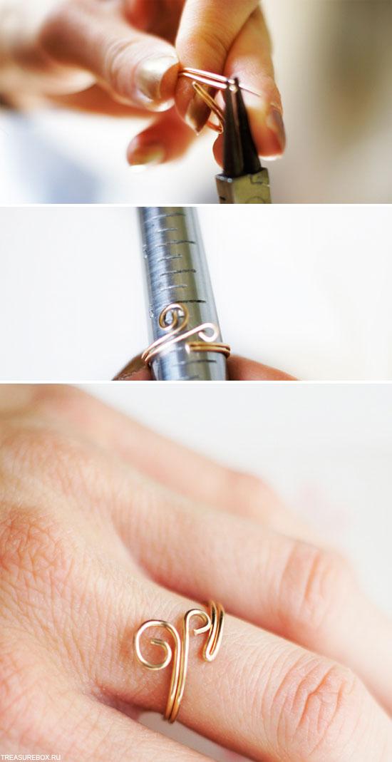 Как делать кольца из проволоки своими руками 54