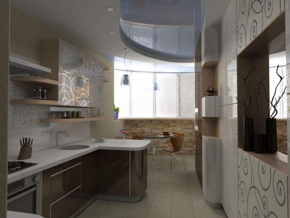Дизайн кухни фото 13 метров