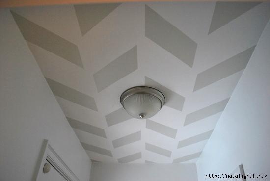 Посмотрите какой чудный потолок я сегодня встретила!