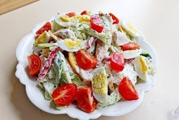 Диетический куриный салатик:…