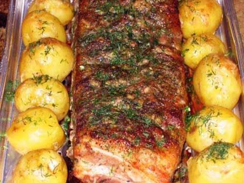 Буженина из свинины в горчичном маринаде