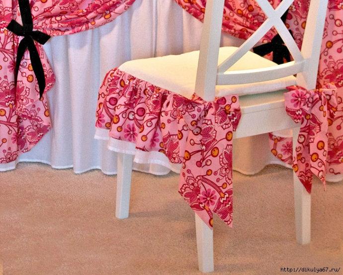 Декоративные подушки на стулья, дизайн, фото, видео 22