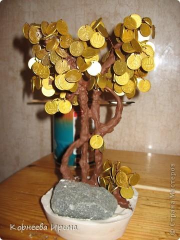 Мастер-класс День рождения Моделирование конструирование Денежное дерево МК фото 19