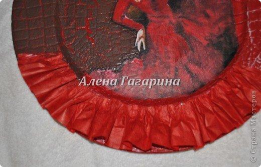 Декор предметов Мастер-класс Декупаж Тарелка Фламенко Бумага фото 12