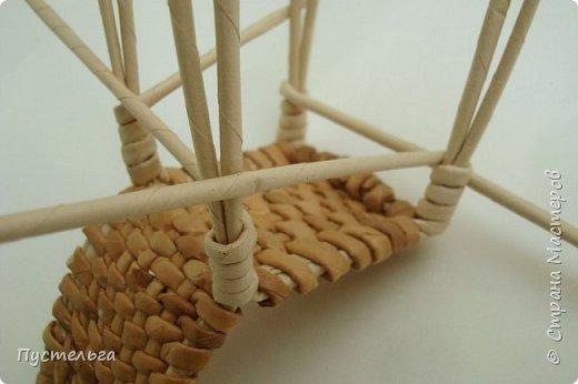 Кукольная жизнь Мастер-класс Плетение Стульчик Трубочки бумажные фото 14