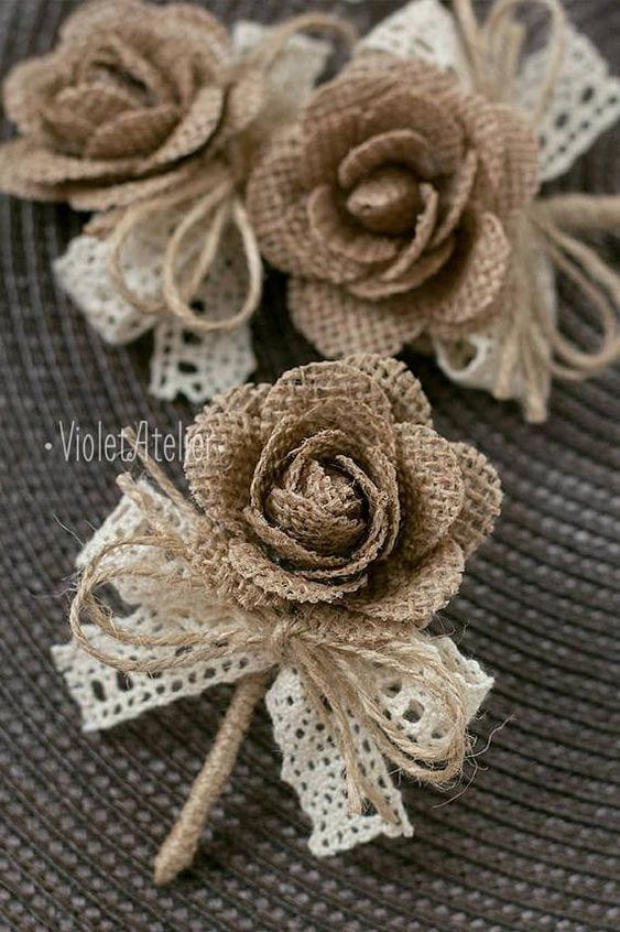 Шедевры из мешковины: 20+ идей для цветочного декора
