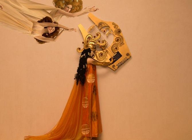 Инсценировка картин Gustav Klimt с живыми моделями