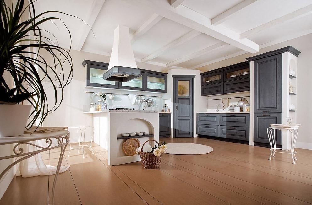 Назвать эту кухню 100% исполнением стиля прованс, просто невозможно, но она не менее привлекательна, чем и все традиционные варианты