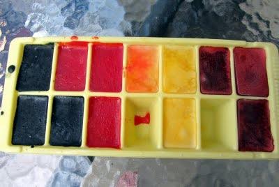 Окрашивание пряжи при помощи льда. МК
