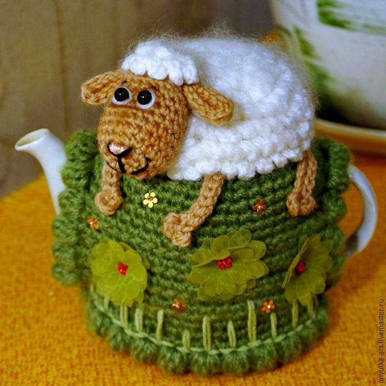 Грелка для чайника своими руками крючком