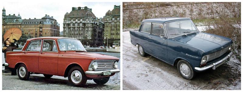 Москвич-408 (1964-1975)-Opel Kadett A (1962-1965) автомобили, история, ссср, факты