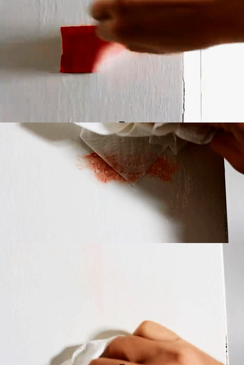2. Удаляем следы от клейкой ленты быт, идея, уксус