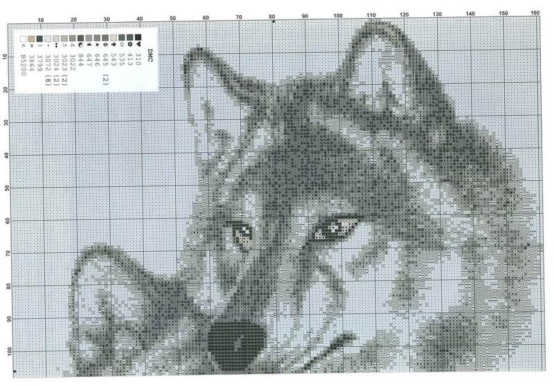Схемы вышивок с волками