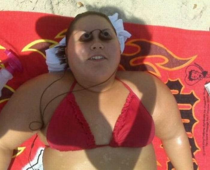 Прикольные фото бабы на пляже