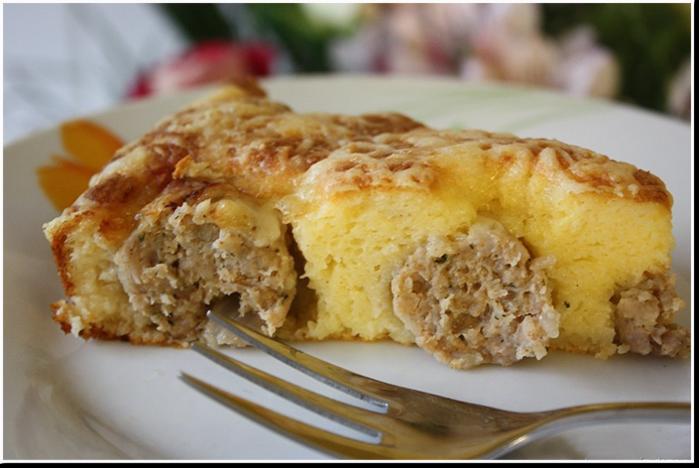 Вкуснейший пирог с фрикадельками по-арабски