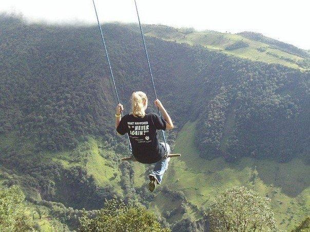 Качели, которые раскачиваются на высоте 2660 метров.