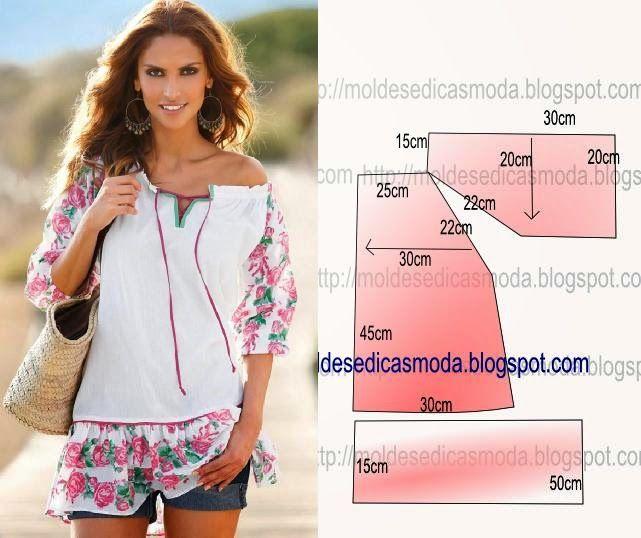 Сшить блузу для лета своими руками