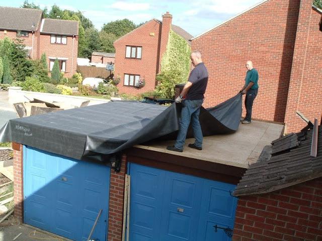 как крыть крышу рубироидом гаражи богатыри