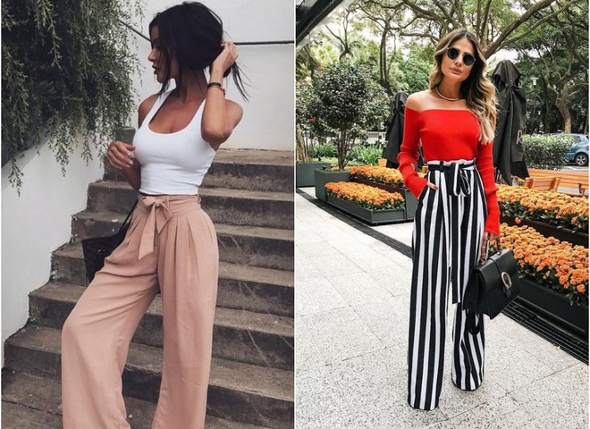Как носить брюки-палаццо: модные идеи на каждый день