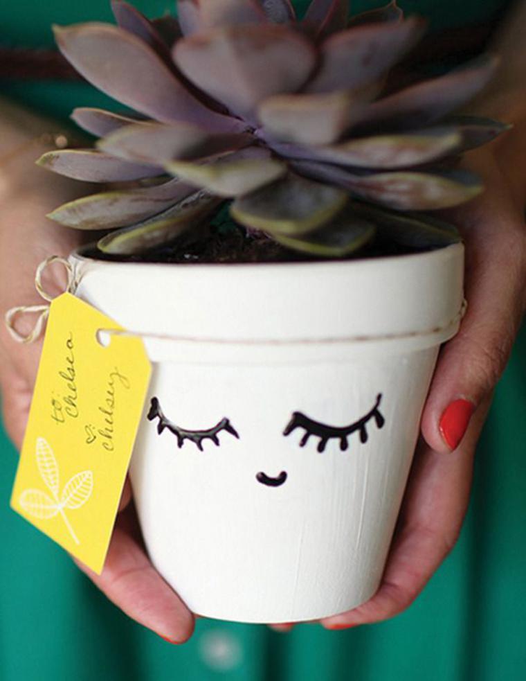 15 простых идей, чтобы преобразить цветочный горшок