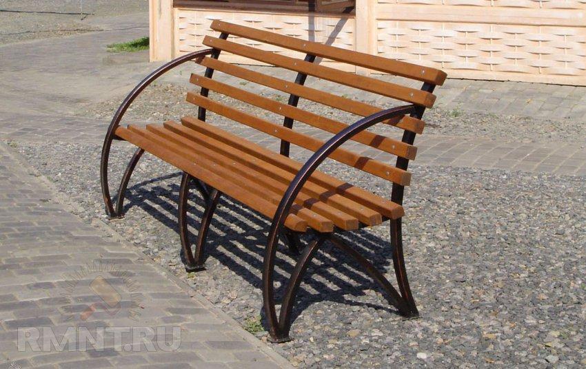 скамейки своими руками из металла фото