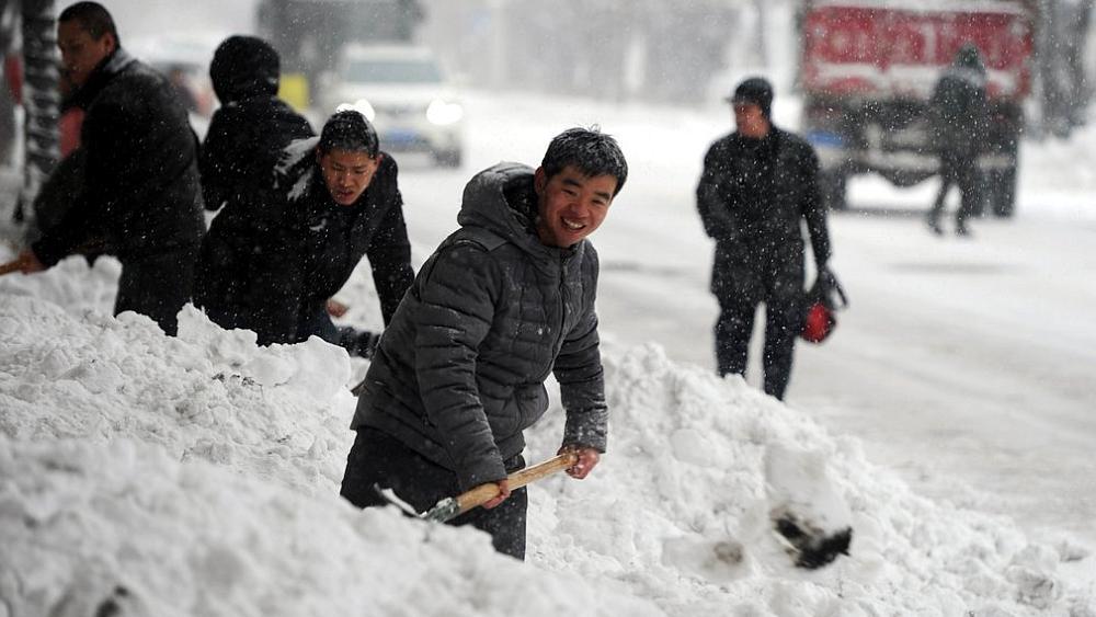 Фотографии 40-часового снегопада в Китае восхитили интернет