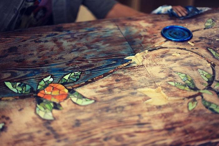 Мозаичная столешница своими руками