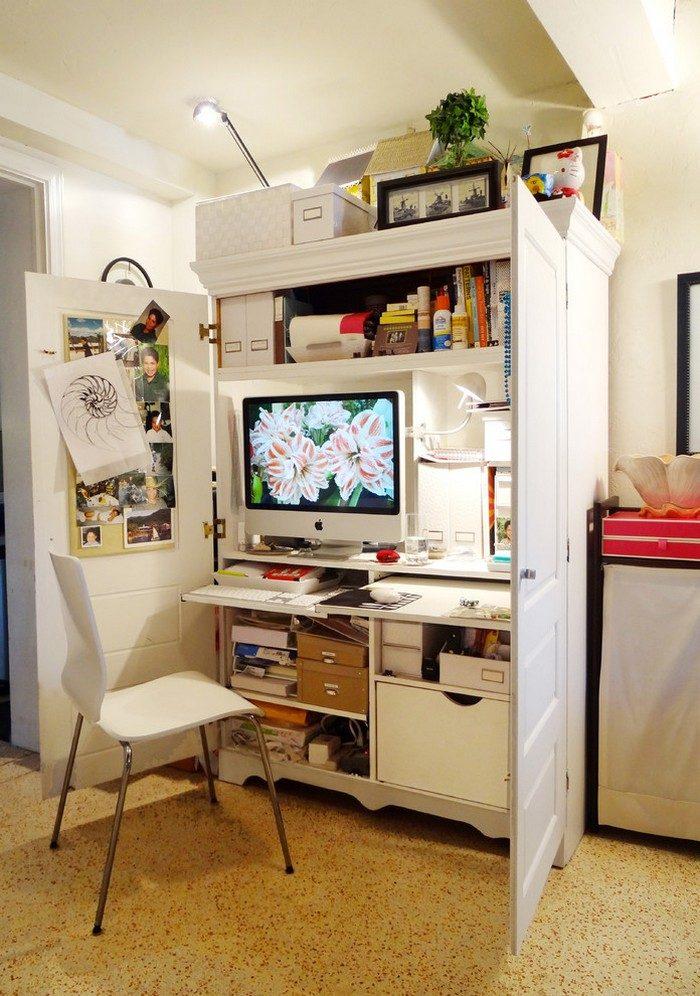 Space saving bathroom cabinets