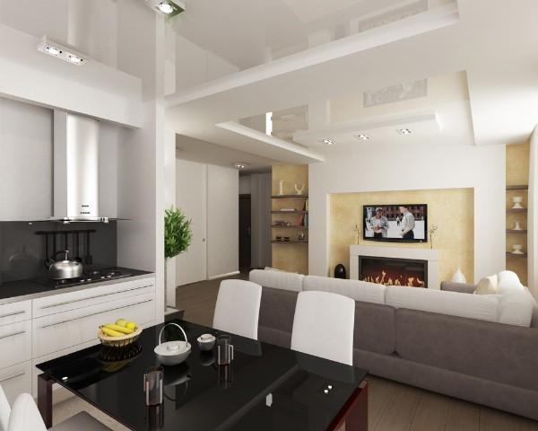 Кухня-студия с гостиной: плюсы открытой планировки (на 70 фото)