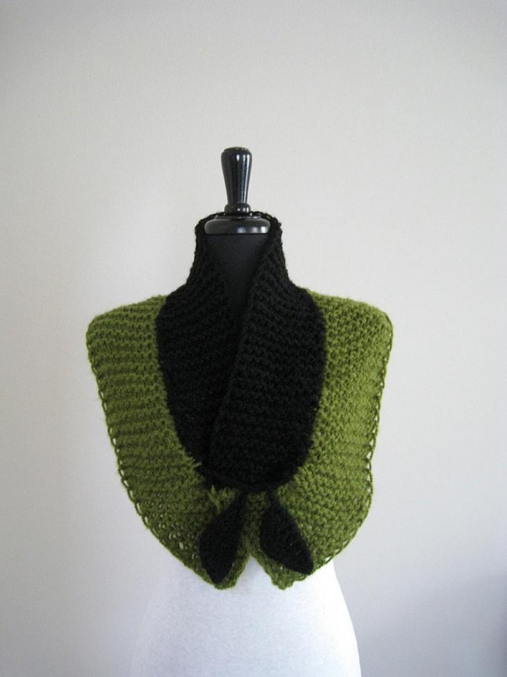 Вязаные шарфы-трансформеры