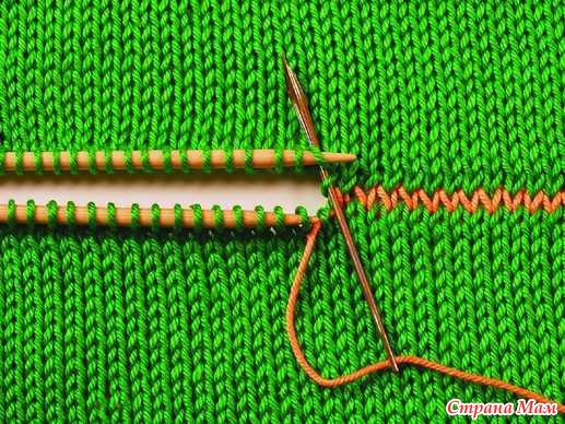 Выполнение швов в вязании. Уроки, пояснения