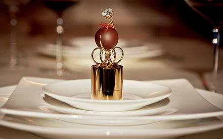 Шоколадный подарок с бриллиантом
