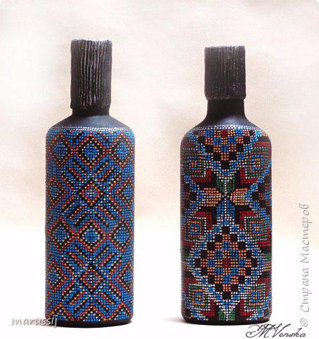 Точечная роспись бутылочек под вышивку. Мастер-класс