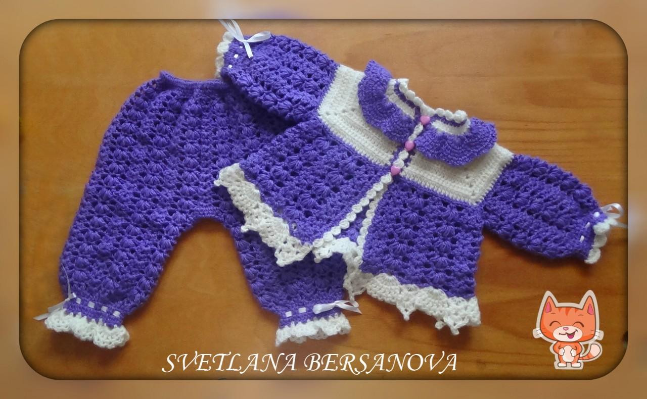 Комплект для малышки - жакетик и штанишки