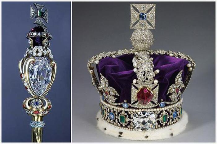 Сейчас эти драгоценности английской короны хранятся в Тауэре