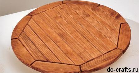 Сделать стол круглый своими руками