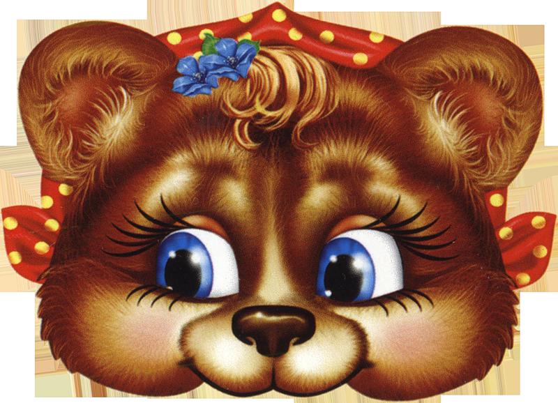 Новогодние маски. Медведь