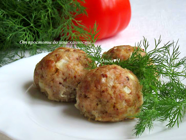 Котлеты из свинины с творогом и горчицей