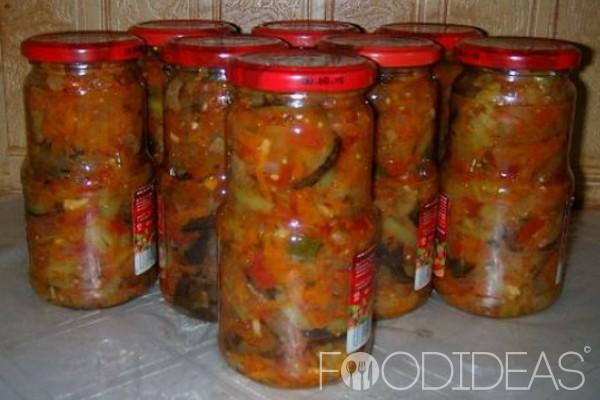 Рецепт салата из баклажанов на зиму десяточка