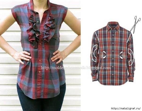 Идеи переделок рубашек